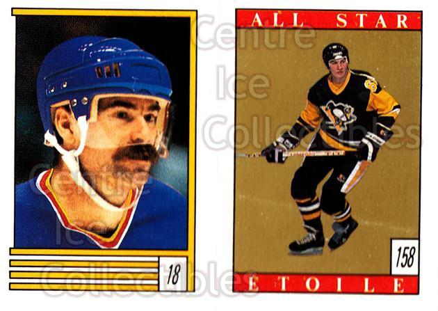 1989-90 O-Pee-Chee Stickers #018-158 Paul MacLean, Mario Lemieux<br/>8 In Stock - $2.00 each - <a href=https://centericecollectibles.foxycart.com/cart?name=1989-90%20O-Pee-Chee%20Stickers%20%23018-158%20Paul%20MacLean,%20M...&price=$2.00&code=248234 class=foxycart> Buy it now! </a>