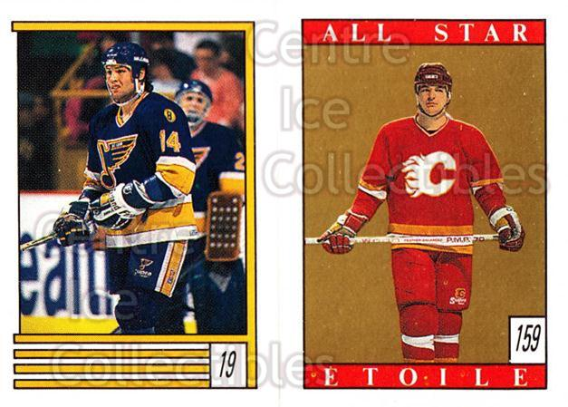 1989-90 O-Pee-Chee Stickers #019-159 Paul Cavallini, Al MacInnis<br/>10 In Stock - $2.00 each - <a href=https://centericecollectibles.foxycart.com/cart?name=1989-90%20O-Pee-Chee%20Stickers%20%23019-159%20Paul%20Cavallini,...&quantity_max=10&price=$2.00&code=248235 class=foxycart> Buy it now! </a>