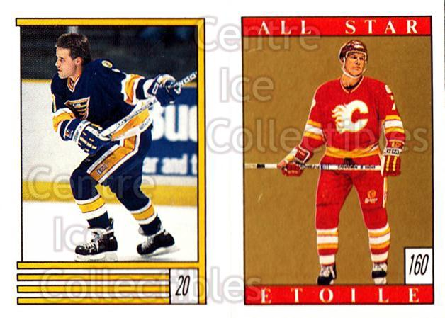 1989-90 O-Pee-Chee Stickers #020-160 Cliff Ronning, Joe Mullen<br/>12 In Stock - $1.00 each - <a href=https://centericecollectibles.foxycart.com/cart?name=1989-90%20O-Pee-Chee%20Stickers%20%23020-160%20Cliff%20Ronning,%20...&quantity_max=12&price=$1.00&code=248236 class=foxycart> Buy it now! </a>