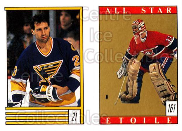 1989-90 O-Pee-Chee Stickers #021-161 Gaston Gingras, Patrick Roy<br/>8 In Stock - $2.00 each - <a href=https://centericecollectibles.foxycart.com/cart?name=1989-90%20O-Pee-Chee%20Stickers%20%23021-161%20Gaston%20Gingras,...&quantity_max=8&price=$2.00&code=248237 class=foxycart> Buy it now! </a>