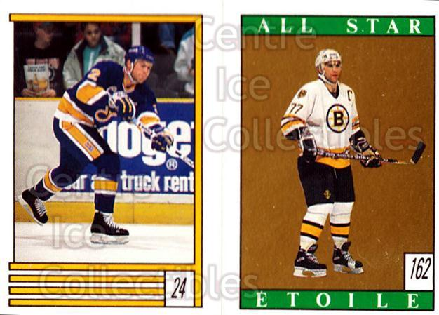1989-90 O-Pee-Chee Stickers #024-162 Brian Benning, Ray Bourque<br/>11 In Stock - $2.00 each - <a href=https://centericecollectibles.foxycart.com/cart?name=1989-90%20O-Pee-Chee%20Stickers%20%23024-162%20Brian%20Benning,%20...&quantity_max=11&price=$2.00&code=248240 class=foxycart> Buy it now! </a>
