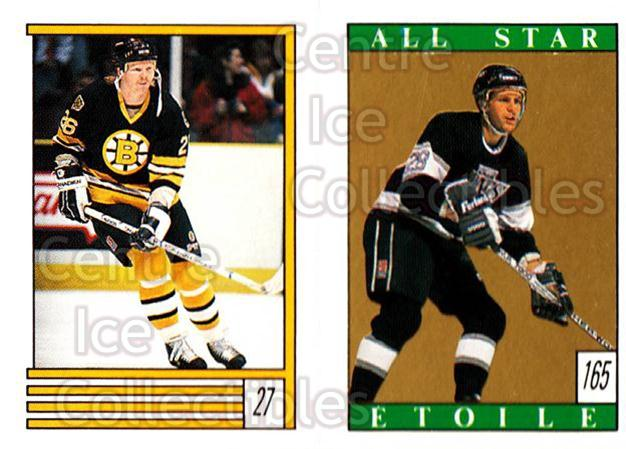 1989-90 O-Pee-Chee Stickers #027-165 Glen Wesley, Steve Duchesne<br/>11 In Stock - $1.00 each - <a href=https://centericecollectibles.foxycart.com/cart?name=1989-90%20O-Pee-Chee%20Stickers%20%23027-165%20Glen%20Wesley,%20St...&quantity_max=11&price=$1.00&code=248243 class=foxycart> Buy it now! </a>
