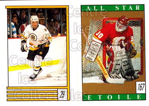 1989-90 O-Pee-Chee Stickers #029-167 Craig Janney, Mike Vernon<br/>12 In Stock - $1.00 each - <a href=https://centericecollectibles.foxycart.com/cart?name=1989-90%20O-Pee-Chee%20Stickers%20%23029-167%20Craig%20Janney,%20M...&quantity_max=12&price=$1.00&code=248245 class=foxycart> Buy it now! </a>