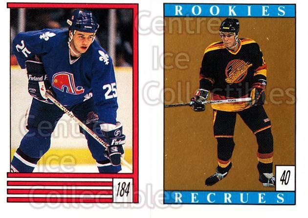 1989-90 O-Pee-Chee Stickers #040-184 Trevor Linden, Jeff Jackson, Checklist<br/>9 In Stock - $1.00 each - <a href=https://centericecollectibles.foxycart.com/cart?name=1989-90%20O-Pee-Chee%20Stickers%20%23040-184%20Trevor%20Linden,%20...&quantity_max=9&price=$1.00&code=248256 class=foxycart> Buy it now! </a>