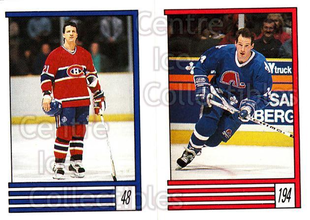 1989-90 O-Pee-Chee Stickers #048-194 Guy Carbonneau, Gaetan Duchesne<br/>12 In Stock - $1.00 each - <a href=https://centericecollectibles.foxycart.com/cart?name=1989-90%20O-Pee-Chee%20Stickers%20%23048-194%20Guy%20Carbonneau,...&quantity_max=12&price=$1.00&code=248264 class=foxycart> Buy it now! </a>
