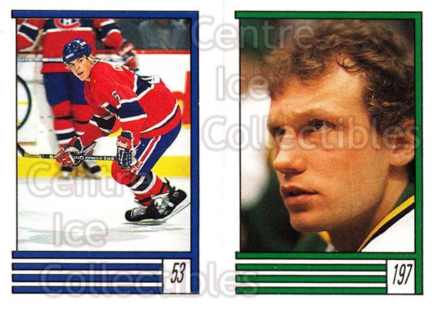 1989-90 O-Pee-Chee Stickers #053-197 Russ Courtnall, Jon Casey<br/>11 In Stock - $1.00 each - <a href=https://centericecollectibles.foxycart.com/cart?name=1989-90%20O-Pee-Chee%20Stickers%20%23053-197%20Russ%20Courtnall,...&quantity_max=11&price=$1.00&code=248269 class=foxycart> Buy it now! </a>