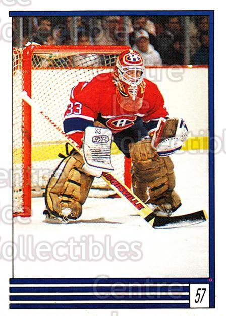 1989-90 O-Pee-Chee Stickers #057-0 Patrick Roy<br/>8 In Stock - $2.00 each - <a href=https://centericecollectibles.foxycart.com/cart?name=1989-90%20O-Pee-Chee%20Stickers%20%23057-0%20Patrick%20Roy...&price=$2.00&code=248273 class=foxycart> Buy it now! </a>