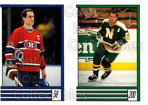 1989-90 O-Pee-Chee Stickers #058-200 Bob Gainey, Brian Bellows<br/>11 In Stock - $2.00 each - <a href=https://centericecollectibles.foxycart.com/cart?name=1989-90%20O-Pee-Chee%20Stickers%20%23058-200%20Bob%20Gainey,%20Bri...&quantity_max=11&price=$2.00&code=248274 class=foxycart> Buy it now! </a>