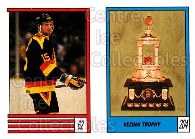 1989-90 O-Pee-Chee Stickers #062-204 Rich Sutter, Vezina Trophy<br/>12 In Stock - $1.00 each - <a href=https://centericecollectibles.foxycart.com/cart?name=1989-90%20O-Pee-Chee%20Stickers%20%23062-204%20Rich%20Sutter,%20Ve...&quantity_max=12&price=$1.00&code=248278 class=foxycart> Buy it now! </a>