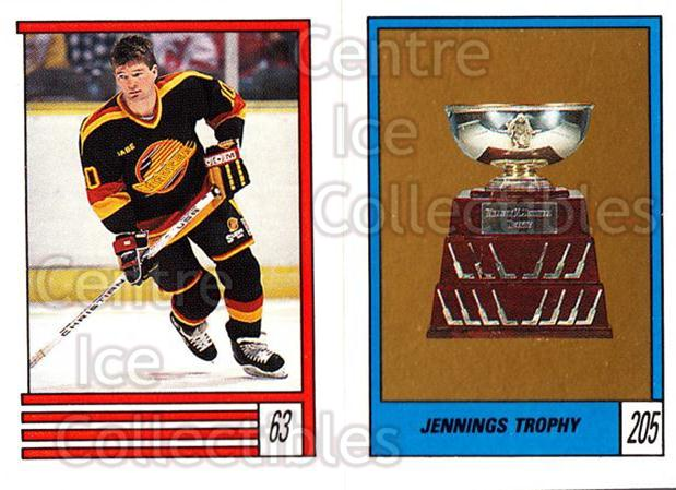 1989-90 O-Pee-Chee Stickers #063-205 Brian Bradley, Jennings Trophy, Bob Essensa<br/>10 In Stock - $1.00 each - <a href=https://centericecollectibles.foxycart.com/cart?name=1989-90%20O-Pee-Chee%20Stickers%20%23063-205%20Brian%20Bradley,%20...&quantity_max=10&price=$1.00&code=248279 class=foxycart> Buy it now! </a>