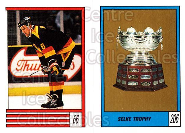 1989-90 O-Pee-Chee Stickers #066-206 Robert Nordmark, Selke Trophy, Pat Elynuik<br/>9 In Stock - $1.00 each - <a href=https://centericecollectibles.foxycart.com/cart?name=1989-90%20O-Pee-Chee%20Stickers%20%23066-206%20Robert%20Nordmark...&quantity_max=9&price=$1.00&code=248282 class=foxycart> Buy it now! </a>