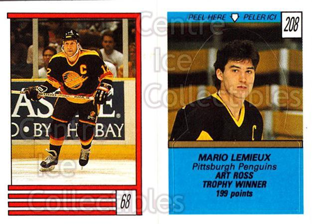 1989-90 O-Pee-Chee Stickers #068-208 Stan Smyl, Mario Lemieux<br/>8 In Stock - $2.00 each - <a href=https://centericecollectibles.foxycart.com/cart?name=1989-90%20O-Pee-Chee%20Stickers%20%23068-208%20Stan%20Smyl,%20Mari...&price=$2.00&code=248284 class=foxycart> Buy it now! </a>