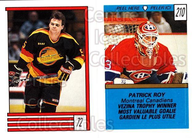 1989-90 O-Pee-Chee Stickers #072-210 Garth Butcher, Patrick Roy, Ray Bourque<br/>3 In Stock - $2.00 each - <a href=https://centericecollectibles.foxycart.com/cart?name=1989-90%20O-Pee-Chee%20Stickers%20%23072-210%20Garth%20Butcher,%20...&price=$2.00&code=248288 class=foxycart> Buy it now! </a>