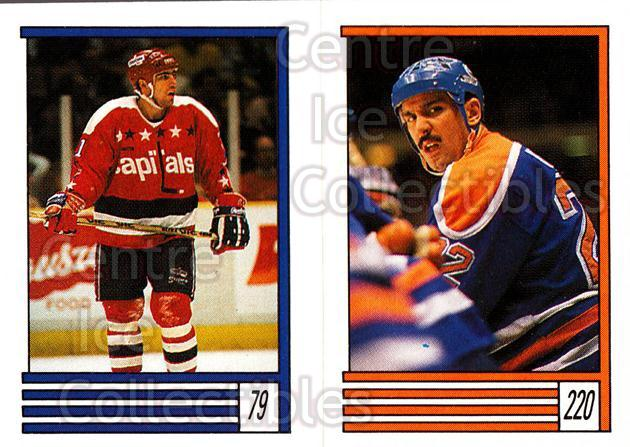 1989-90 O-Pee-Chee Stickers #079-220 Stephen Leach, Charlie Huddy<br/>11 In Stock - $1.00 each - <a href=https://centericecollectibles.foxycart.com/cart?name=1989-90%20O-Pee-Chee%20Stickers%20%23079-220%20Stephen%20Leach,%20...&quantity_max=11&price=$1.00&code=248295 class=foxycart> Buy it now! </a>