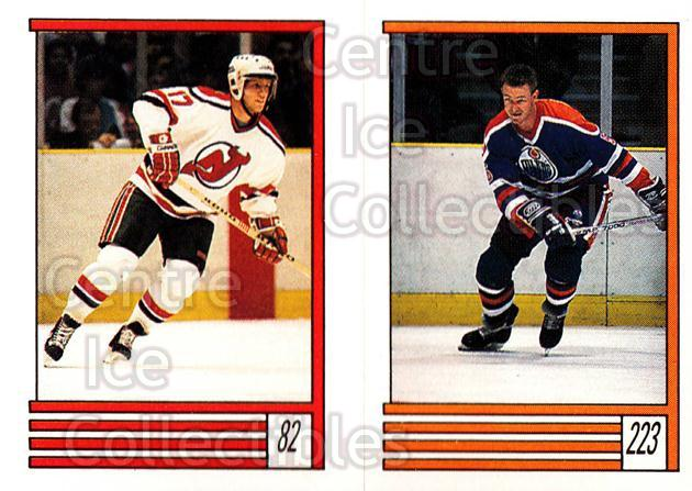 1989-90 O-Pee-Chee Stickers #082-223 Patrik Sundstrom, Steve Smith<br/>10 In Stock - $1.00 each - <a href=https://centericecollectibles.foxycart.com/cart?name=1989-90%20O-Pee-Chee%20Stickers%20%23082-223%20Patrik%20Sundstro...&quantity_max=10&price=$1.00&code=248298 class=foxycart> Buy it now! </a>