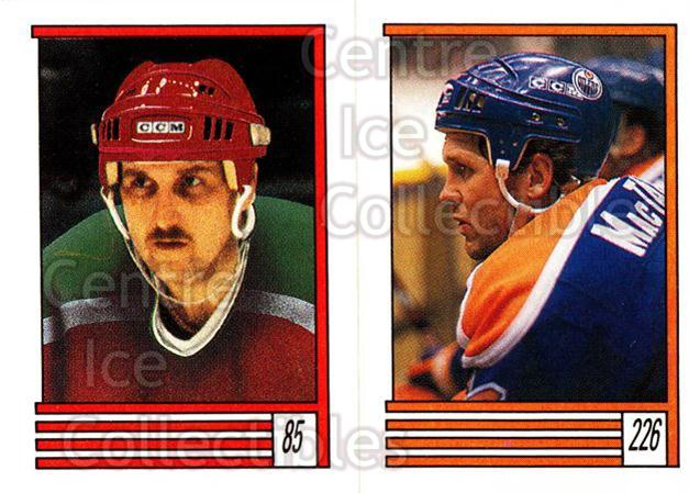 1989-90 O-Pee-Chee Stickers #085-226 Walt Poddubny, Craig MacTavish<br/>11 In Stock - $1.00 each - <a href=https://centericecollectibles.foxycart.com/cart?name=1989-90%20O-Pee-Chee%20Stickers%20%23085-226%20Walt%20Poddubny,%20...&quantity_max=11&price=$1.00&code=248301 class=foxycart> Buy it now! </a>