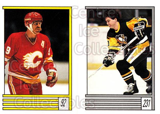 1989-90 O-Pee-Chee Stickers #092-231 Lanny McDonald, John Cullen<br/>12 In Stock - $1.00 each - <a href=https://centericecollectibles.foxycart.com/cart?name=1989-90%20O-Pee-Chee%20Stickers%20%23092-231%20Lanny%20McDonald,...&quantity_max=12&price=$1.00&code=248308 class=foxycart> Buy it now! </a>