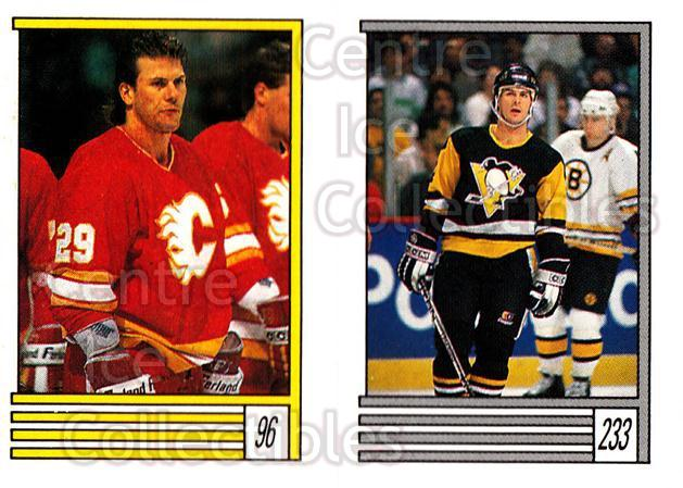 1989-90 O-Pee-Chee Stickers #096-233 Joel Otto, Bob Errey, Scott Young<br/>12 In Stock - $1.00 each - <a href=https://centericecollectibles.foxycart.com/cart?name=1989-90%20O-Pee-Chee%20Stickers%20%23096-233%20Joel%20Otto,%20Bob%20...&quantity_max=12&price=$1.00&code=248312 class=foxycart> Buy it now! </a>