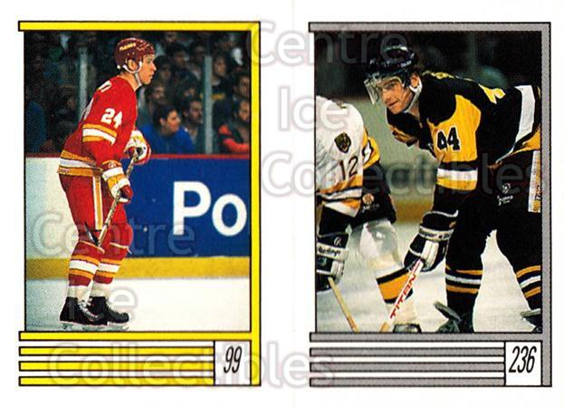 1989-90 O-Pee-Chee Stickers #099-236 Jim Peplinski, Rob Brown<br/>12 In Stock - $1.00 each - <a href=https://centericecollectibles.foxycart.com/cart?name=1989-90%20O-Pee-Chee%20Stickers%20%23099-236%20Jim%20Peplinski,%20...&quantity_max=12&price=$1.00&code=248315 class=foxycart> Buy it now! </a>