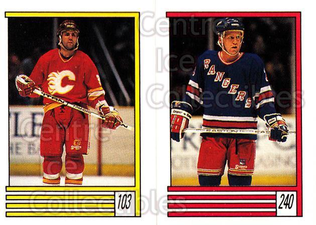 1989-90 O-Pee-Chee Stickers #103-240 Doug Gilmour, Brian Leetch<br/>8 In Stock - $2.00 each - <a href=https://centericecollectibles.foxycart.com/cart?name=1989-90%20O-Pee-Chee%20Stickers%20%23103-240%20Doug%20Gilmour,%20B...&quantity_max=8&price=$2.00&code=248319 class=foxycart> Buy it now! </a>