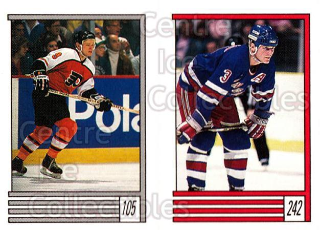 1989-90 O-Pee-Chee Stickers #105-242 Pelle Eklund, James Patrick<br/>11 In Stock - $1.00 each - <a href=https://centericecollectibles.foxycart.com/cart?name=1989-90%20O-Pee-Chee%20Stickers%20%23105-242%20Pelle%20Eklund,%20J...&quantity_max=11&price=$1.00&code=248321 class=foxycart> Buy it now! </a>