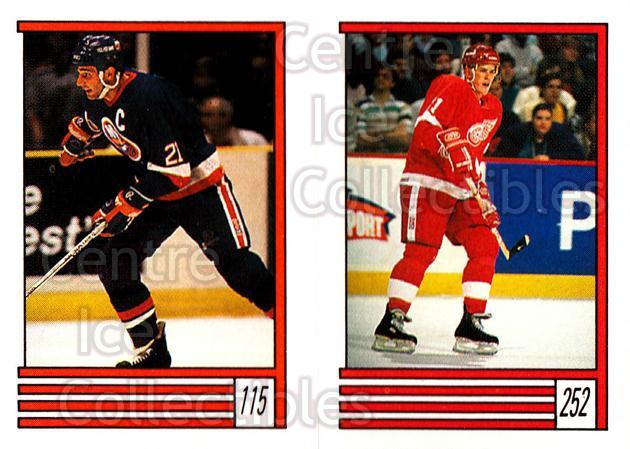 1989-90 O-Pee-Chee Stickers #115-252 Brent Sutter, Shawn Burr<br/>12 In Stock - $1.00 each - <a href=https://centericecollectibles.foxycart.com/cart?name=1989-90%20O-Pee-Chee%20Stickers%20%23115-252%20Brent%20Sutter,%20S...&quantity_max=12&price=$1.00&code=248331 class=foxycart> Buy it now! </a>