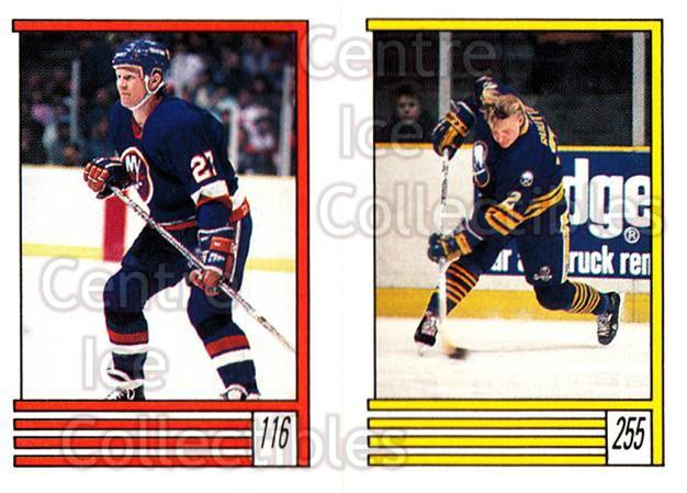 1989-90 O-Pee-Chee Stickers #116-255 Derek King, Christian Ruuttu<br/>10 In Stock - $1.00 each - <a href=https://centericecollectibles.foxycart.com/cart?name=1989-90%20O-Pee-Chee%20Stickers%20%23116-255%20Derek%20King,%20Chr...&quantity_max=10&price=$1.00&code=248332 class=foxycart> Buy it now! </a>