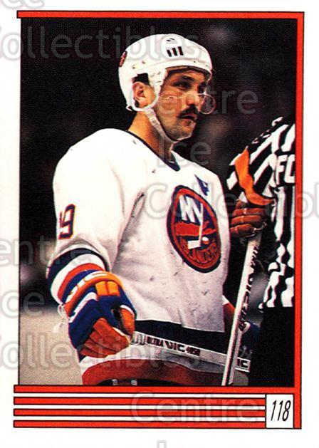 1989-90 O-Pee-Chee Stickers #118-0 Bryan Trottier, Peter Sidorkiewicz<br/>7 In Stock - $2.00 each - <a href=https://centericecollectibles.foxycart.com/cart?name=1989-90%20O-Pee-Chee%20Stickers%20%23118-0%20Bryan%20Trottier,...&quantity_max=7&price=$2.00&code=248334 class=foxycart> Buy it now! </a>