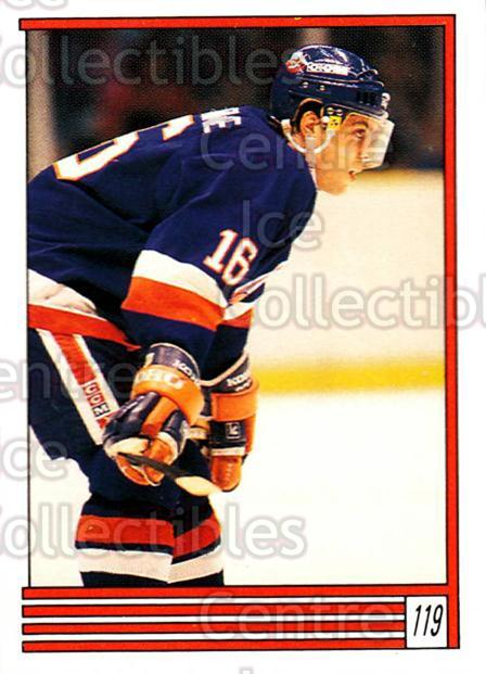 1989-90 O-Pee-Chee Stickers #119-0 Pat LaFontaine<br/>7 In Stock - $2.00 each - <a href=https://centericecollectibles.foxycart.com/cart?name=1989-90%20O-Pee-Chee%20Stickers%20%23119-0%20Pat%20LaFontaine...&quantity_max=7&price=$2.00&code=248335 class=foxycart> Buy it now! </a>