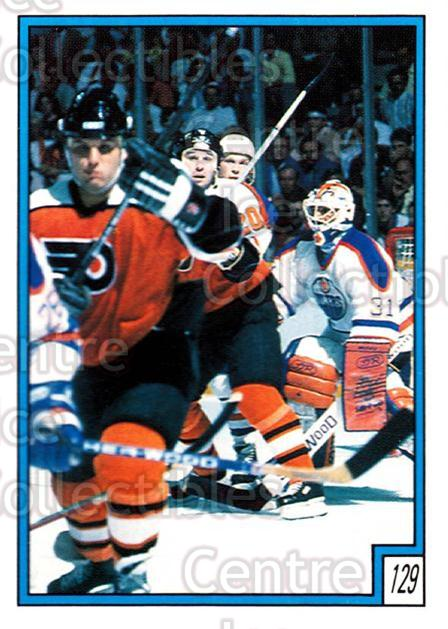 1989-90 O-Pee-Chee Stickers #129-0 Grant Fuhr, Dave Poulin, Peter Zezel<br/>5 In Stock - $2.00 each - <a href=https://centericecollectibles.foxycart.com/cart?name=1989-90%20O-Pee-Chee%20Stickers%20%23129-0%20Grant%20Fuhr,%20Dav...&quantity_max=5&price=$2.00&code=248345 class=foxycart> Buy it now! </a>