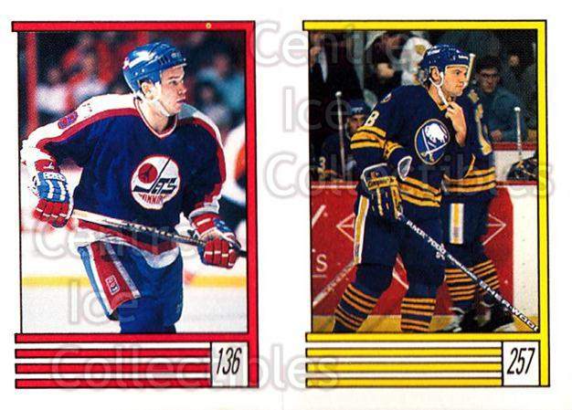 1989-90 O-Pee-Chee Stickers #136-257 Iain Duncan, Doug Bodger<br/>12 In Stock - $1.00 each - <a href=https://centericecollectibles.foxycart.com/cart?name=1989-90%20O-Pee-Chee%20Stickers%20%23136-257%20Iain%20Duncan,%20Do...&quantity_max=12&price=$1.00&code=248352 class=foxycart> Buy it now! </a>