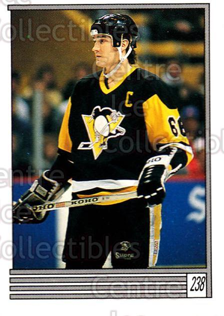 1989-90 O-Pee-Chee Stickers #238-0 Mario Lemieux<br/>7 In Stock - $2.00 each - <a href=https://centericecollectibles.foxycart.com/cart?name=1989-90%20O-Pee-Chee%20Stickers%20%23238-0%20Mario%20Lemieux...&price=$2.00&code=248389 class=foxycart> Buy it now! </a>
