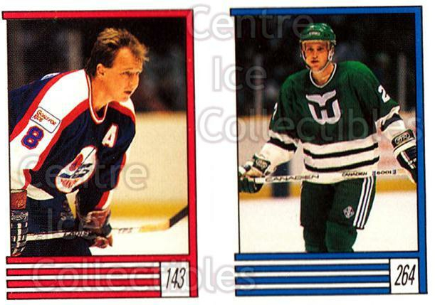 1989-90 O-Pee-Chee Stickers #143-264 Randy Carlyle, Scott Young<br/>12 In Stock - $1.00 each - <a href=https://centericecollectibles.foxycart.com/cart?name=1989-90%20O-Pee-Chee%20Stickers%20%23143-264%20Randy%20Carlyle,%20...&quantity_max=12&price=$1.00&code=248397 class=foxycart> Buy it now! </a>
