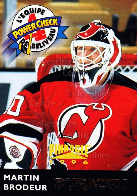 1996-97 Duracell Jean Beliveau All-Star Team #6 Martin Brodeur<br/>2 In Stock - $2.00 each - <a href=https://centericecollectibles.foxycart.com/cart?name=1996-97%20Duracell%20Jean%20Beliveau%20All-Star%20Team%20%236%20Martin%20Brodeur...&price=$2.00&code=248470 class=foxycart> Buy it now! </a>