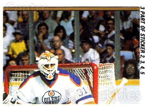1988-89 O-pee-chee Stickers #003-0 Grant Fuhr, Steve Smith, Boston Bruins<br/>5 In Stock - $2.00 each - <a href=https://centericecollectibles.foxycart.com/cart?name=1988-89%20O-pee-chee%20Stickers%20%23003-0%20Grant%20Fuhr,%20Ste...&quantity_max=5&price=$2.00&code=248505 class=foxycart> Buy it now! </a>