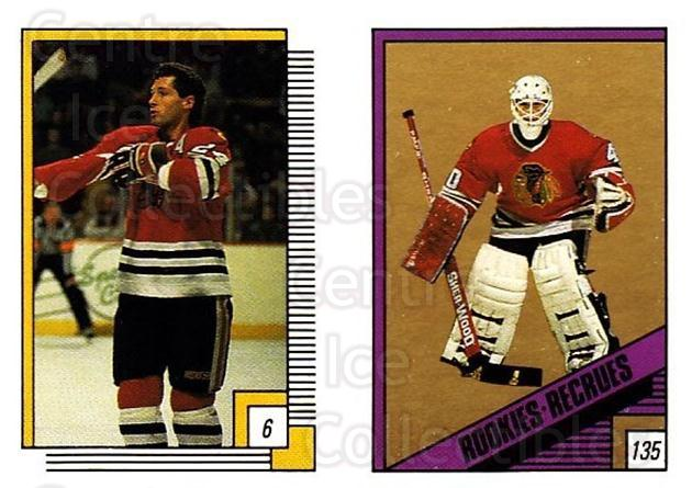1988-89 O-pee-chee Stickers #006-135 Doug Wilson, Darren Pang<br/>11 In Stock - $2.00 each - <a href=https://centericecollectibles.foxycart.com/cart?name=1988-89%20O-pee-chee%20Stickers%20%23006-135%20Doug%20Wilson,%20Da...&quantity_max=11&price=$2.00&code=248508 class=foxycart> Buy it now! </a>