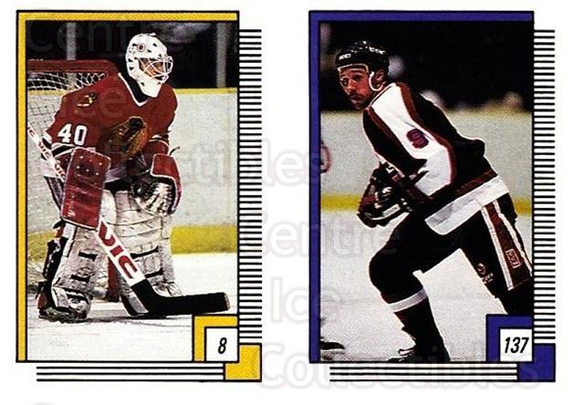 1988-89 O-pee-chee Stickers #008-137 Darren Pang, Doug Smail<br/>9 In Stock - $2.00 each - <a href=https://centericecollectibles.foxycart.com/cart?name=1988-89%20O-pee-chee%20Stickers%20%23008-137%20Darren%20Pang,%20Do...&quantity_max=9&price=$2.00&code=248510 class=foxycart> Buy it now! </a>