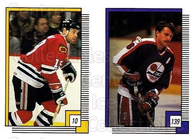 1988-89 O-pee-chee Stickers #010-139 Troy Murray, Laurie Boschman<br/>10 In Stock - $2.00 each - <a href=https://centericecollectibles.foxycart.com/cart?name=1988-89%20O-pee-chee%20Stickers%20%23010-139%20Troy%20Murray,%20La...&quantity_max=10&price=$2.00&code=248512 class=foxycart> Buy it now! </a>