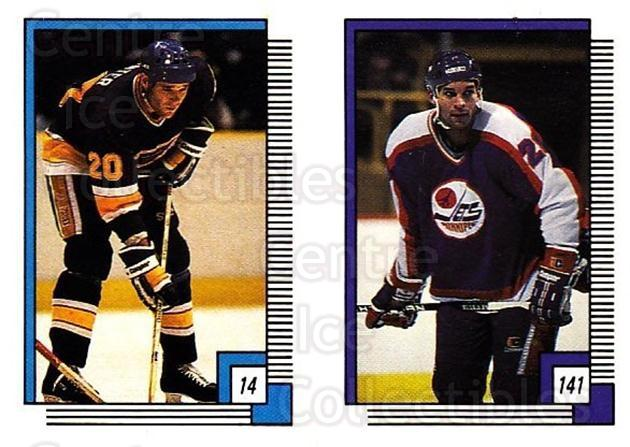 1988-89 O-pee-chee Stickers #014-141 Mark Hunter, Ray Neufeld<br/>10 In Stock - $2.00 each - <a href=https://centericecollectibles.foxycart.com/cart?name=1988-89%20O-pee-chee%20Stickers%20%23014-141%20Mark%20Hunter,%20Ra...&quantity_max=10&price=$2.00&code=248516 class=foxycart> Buy it now! </a>