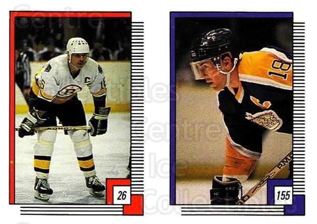 1988-89 O-pee-chee Stickers #026-155 Rick Middleton, Dave Taylor<br/>11 In Stock - $2.00 each - <a href=https://centericecollectibles.foxycart.com/cart?name=1988-89%20O-pee-chee%20Stickers%20%23026-155%20Rick%20Middleton,...&quantity_max=11&price=$2.00&code=248528 class=foxycart> Buy it now! </a>