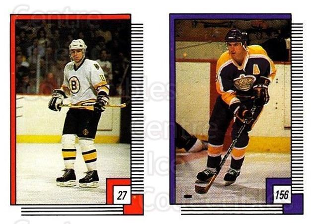 1988-89 O-pee-chee Stickers #027-156 Steve Kasper, Bernie Nicholls<br/>10 In Stock - $2.00 each - <a href=https://centericecollectibles.foxycart.com/cart?name=1988-89%20O-pee-chee%20Stickers%20%23027-156%20Steve%20Kasper,%20B...&quantity_max=10&price=$2.00&code=248529 class=foxycart> Buy it now! </a>