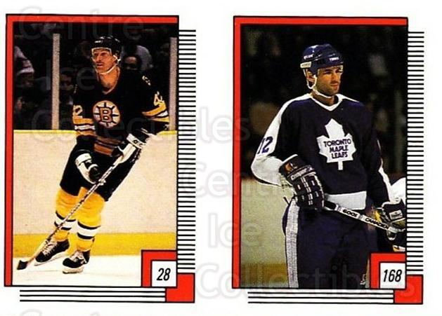 1988-89 O-pee-chee Stickers #028-168 Bob Sweeney, Mark Osborne<br/>10 In Stock - $2.00 each - <a href=https://centericecollectibles.foxycart.com/cart?name=1988-89%20O-pee-chee%20Stickers%20%23028-168%20Bob%20Sweeney,%20Ma...&quantity_max=10&price=$2.00&code=248530 class=foxycart> Buy it now! </a>