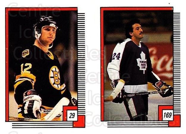 1988-89 O-pee-chee Stickers #029-169 Randy Burridge, Dan Daoust<br/>9 In Stock - $2.00 each - <a href=https://centericecollectibles.foxycart.com/cart?name=1988-89%20O-pee-chee%20Stickers%20%23029-169%20Randy%20Burridge,...&quantity_max=9&price=$2.00&code=248531 class=foxycart> Buy it now! </a>