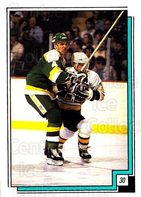 1988-89 O-pee-chee Stickers #030-0 Craig Hartsburg, Boston Bruins<br/>8 In Stock - $2.00 each - <a href=https://centericecollectibles.foxycart.com/cart?name=1988-89%20O-pee-chee%20Stickers%20%23030-0%20Craig%20Hartsburg...&quantity_max=8&price=$2.00&code=248532 class=foxycart> Buy it now! </a>