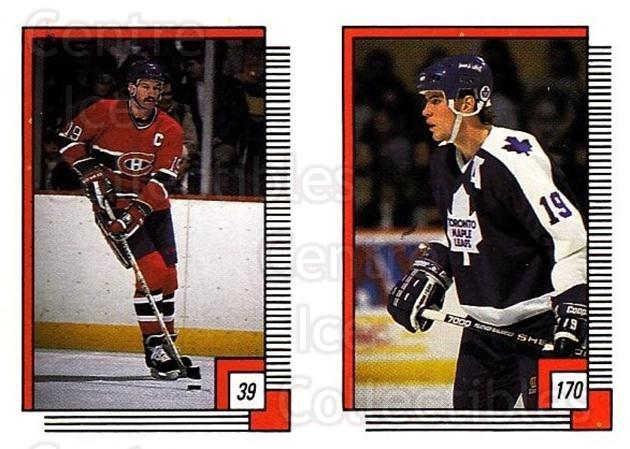 1988-89 O-pee-chee Stickers #039-170 Larry Robinson, Tom Fergus<br/>9 In Stock - $2.00 each - <a href=https://centericecollectibles.foxycart.com/cart?name=1988-89%20O-pee-chee%20Stickers%20%23039-170%20Larry%20Robinson,...&price=$2.00&code=248541 class=foxycart> Buy it now! </a>