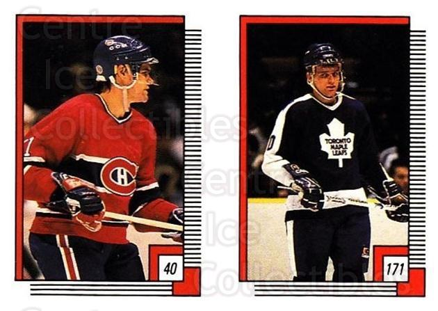 1988-89 O-pee-chee Stickers #040-171 Ryan Walter, Vincent Damphousse<br/>11 In Stock - $2.00 each - <a href=https://centericecollectibles.foxycart.com/cart?name=1988-89%20O-pee-chee%20Stickers%20%23040-171%20Ryan%20Walter,%20Vi...&quantity_max=11&price=$2.00&code=248542 class=foxycart> Buy it now! </a>