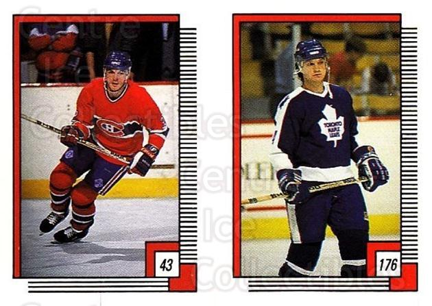 1988-89 O-pee-chee Stickers #043-176 Claude Lemieux, Rick Lanz<br/>9 In Stock - $2.00 each - <a href=https://centericecollectibles.foxycart.com/cart?name=1988-89%20O-pee-chee%20Stickers%20%23043-176%20Claude%20Lemieux,...&quantity_max=9&price=$2.00&code=248545 class=foxycart> Buy it now! </a>