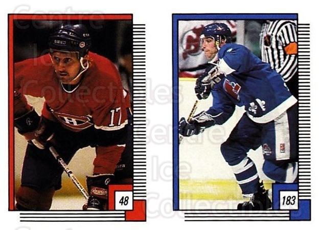 1988-89 O-pee-chee Stickers #048-183 Craig Ludwig, Lane Lambert<br/>11 In Stock - $2.00 each - <a href=https://centericecollectibles.foxycart.com/cart?name=1988-89%20O-pee-chee%20Stickers%20%23048-183%20Craig%20Ludwig,%20L...&quantity_max=11&price=$2.00&code=248550 class=foxycart> Buy it now! </a>