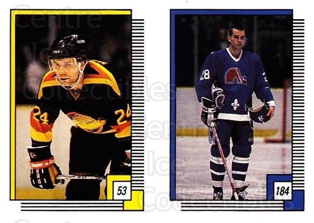 1988-89 O-pee-chee Stickers #053-184 Larry Melnyk, Tommy Albelin, David Archibald<br/>11 In Stock - $2.00 each - <a href=https://centericecollectibles.foxycart.com/cart?name=1988-89%20O-pee-chee%20Stickers%20%23053-184%20Larry%20Melnyk,%20T...&quantity_max=11&price=$2.00&code=248555 class=foxycart> Buy it now! </a>