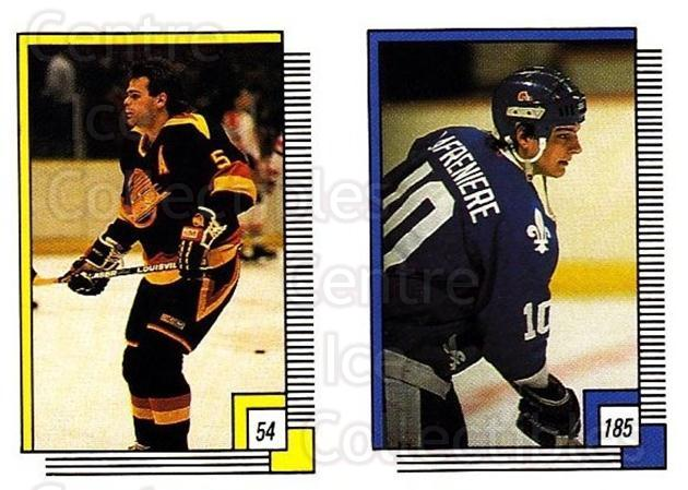 1988-89 O-pee-chee Stickers #054-185 Garth Butcher, Jason Lafreniere<br/>7 In Stock - $2.00 each - <a href=https://centericecollectibles.foxycart.com/cart?name=1988-89%20O-pee-chee%20Stickers%20%23054-185%20Garth%20Butcher,%20...&quantity_max=7&price=$2.00&code=248556 class=foxycart> Buy it now! </a>